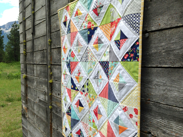 baby quilt side view