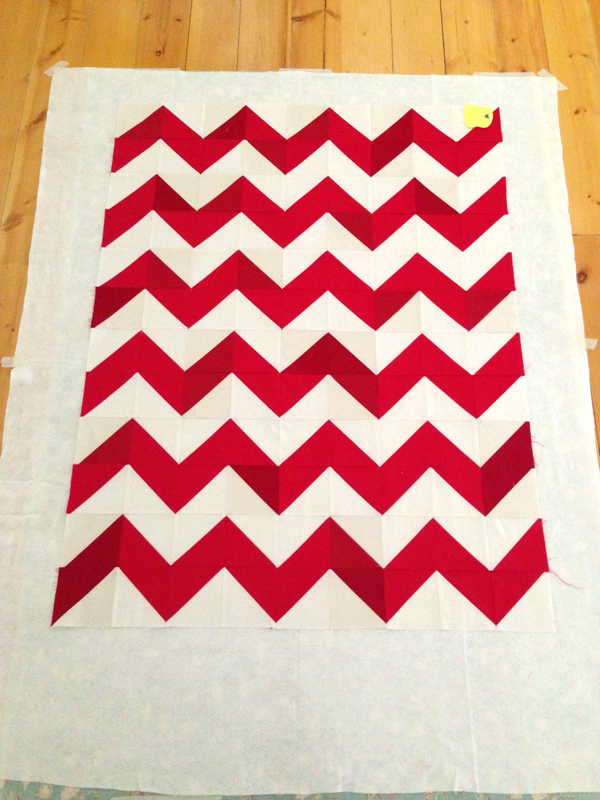 chevron quilt top