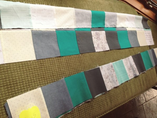 bridal shower quilt rows