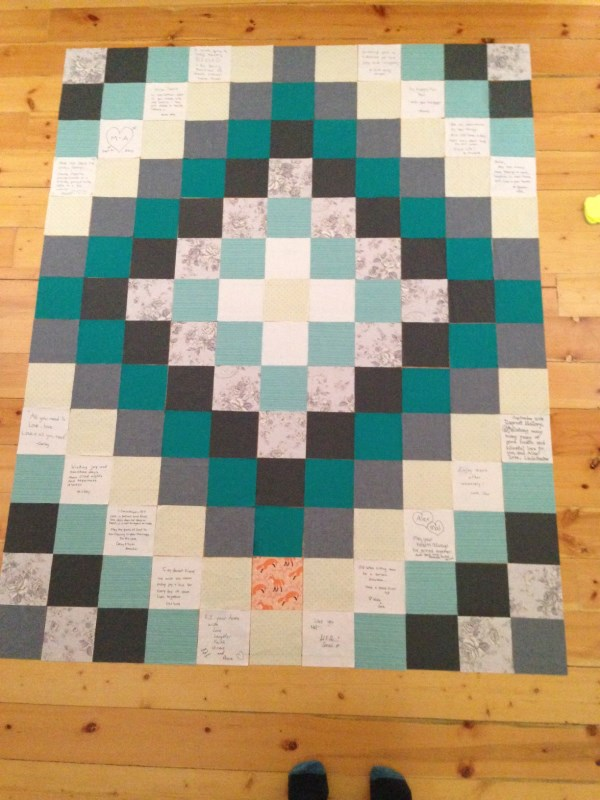 bridal shower quilt
